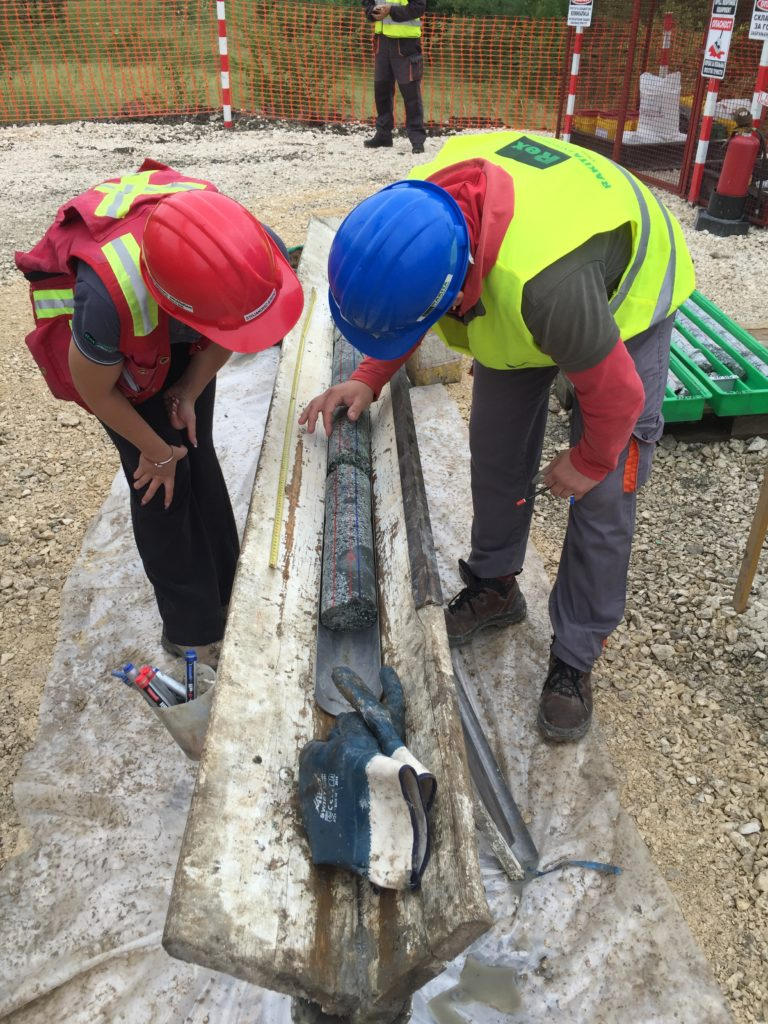 Geotechnical core logging